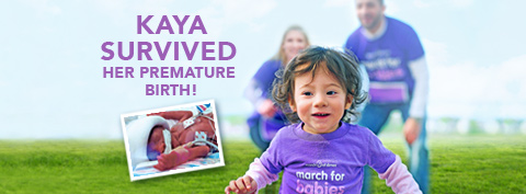 Kaya, premature birth survivor, running in a field